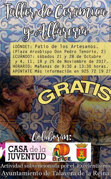 cartel-taller-ceramica-y-alfareria-el-barrilete-revista-love-talavera